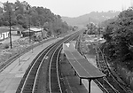 Corliss PA - View of the PA Railroad station at Corliss Pennsylvania.  The assignment was for the PA Railroad due to a train derailment near the station.  Brady Stewart Studio was a contract photography studio for the railroad from 1955 through 1965.