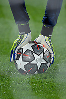 Hands and gloves of Ron-Torben Hoffmann of FC Bayern Munchen while holding the ball on the ground during the Champions League round of 16 football match between SS Lazio and Bayern Munchen at stadio Olimpico in Rome (Italy), February, 23th, 2021. Photo Andrea Staccioli / Insidefoto