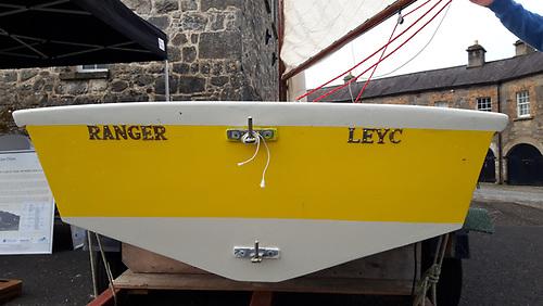 Ranger displaying its original club, LEYC (Lough Erne Yacht Club) the original club based at Crom