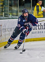 21 November 2017: University of Connecticut Huskies forward Corey Ronan in first period action against the University of Vermont Catamounts at Gutterson Fieldhouse in Burlington, Vermont. The Huskies defeated the Catamounts 4-1 in Hockey East play. Mandatory Credit: Ed Wolfstein Photo *** RAW (NEF) Image File Available ***