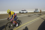 Colombian Champion Sergio Higuita Garcia (COL) EF Education-Nippo and Sepp Kuss (USA) Team Jumbo-Visma on the final climb of Stage 3 of the 2021 UAE Tour running 166km from Al Ain to Jebel Hafeet, Abu Dhabi, UAE. 23rd February 2021.  <br /> Picture: Eoin Clarke | Cyclefile<br /> <br /> All photos usage must carry mandatory copyright credit (© Cyclefile | Eoin Clarke)