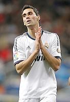 Real Madrid's Alvaro Arbeloa dejected during La Liga match. December 16, 2012. (ALTERPHOTOS/Alvaro Hernandez)