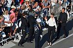 70eme Festival International du Film de Cannes. Montee de la ceremonie de cloture, vues du toit du Palais . 70th International Cannes Film Festival. Vew from rof top of closing red carpet<br /> Haenel, Adele