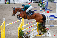 NZL-Kathryn Alabaster rides Haupouri Drama NZPH. Class 23: Fiber Fresh Horse 1.40m Ranking Class. 2021 NZL-Easter Jumping Festival presented by McIntosh Global Equestrian and Equestrian Entries. NEC Taupo. Saturday 3 April. Copyright Photo: Libby Law Photography