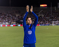 PASADENA, CA - AUGUST 4: Alex Morgan #13 salutes the crowd during a game between Ireland and USWNT at Rose Bowl on August 3, 2019 in Pasadena, California.
