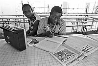 - solidarity camp of FGCI (Italian Communist Youth Federation) for  Africa immigrants employed as daily agricultural workers  ....- campo di solidarietà della FGCI (Federazione Giovanile Comunista Italiana) per gli immigrati africani  impiegati come braccianti agricoli