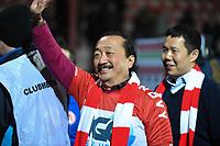 KV KORTRIJK - STANDARD LUIK :<br /> de Maleisische eigenaar Vincent Tan uiterst gelukkig na de wedstrijd<br /> <br /> Foto VDB / Bart Vandenbroucke