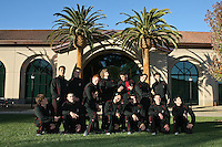7 October 2005: Men's gymnastics team photo: Top row (l to r): Jason Shen, Bryce Rolston, Dylan Carney, Nate Downs, Josh Goldman, Eli Alcaraz, Sean Doolan, Mutsumi Harada. Bottom row: Chris Harper, Greg Ter-Zakhariants, Bryce Hadden, Sho Nakamori, Peter Derman, Alex Schorsch, David Sender.