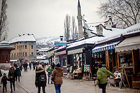 Quarter Bascarsija, Sarajevo's old bazaar and the historical and cultural centre of the capital.