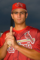 Pete Kozma (27) poses for a headshot at Hunnicutt Field in Princeton, WV, Friday, August 10, 2007.