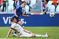 Federico Chiesa of Italy and Toby Alderweireld of Belgium during the Uefa Nations League 3rd and 4th place final football match between Italy and Belgium at Juventus stadium in Torino (Italy), October 10th, 2021. Photo Image Sport / Insidefoto