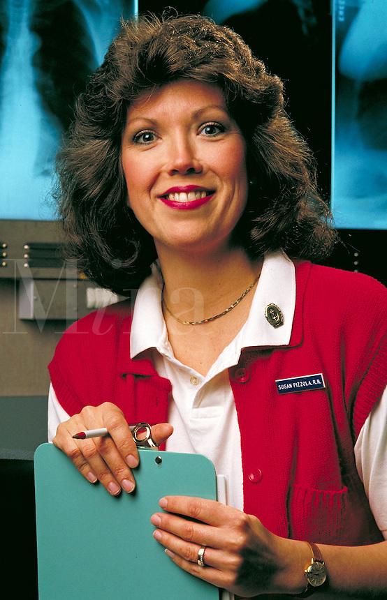 Portrait of a nurse.<br />