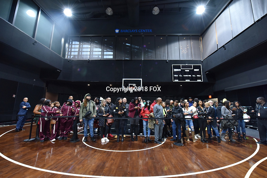 BROOKLYN, NY - DECEMBER 21: Atmosphere at the Fox Sports and Premier Boxing Champions official weigh-in for the December 22 Fox PBC Fight Night at the Barclay Center on December 21, 2018 in Brooklyn, New York. (Photo by Anthony Behar/Fox Sports/PictureGroup)