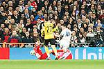 Borussia Dortmund Roman Weidenfeller, Real Madrid's James Rodriguez during Champions League match between Real Madrid and Borussia Dortmund  at Santiago Bernabeu Stadium in Madrid , Spain. December 07, 2016. (ALTERPHOTOS/Rodrigo Jimenez)
