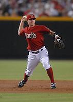 Aug 12, 2007; Phoenix, AZ, USA; Arizona Diamondbacks shortstop (6) Stephen Drew against the Washington Nationals at Chase Field. Mandatory Credit: Mark J. Rebilas