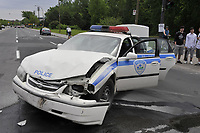SIMULATION d'ACCIDENT ROUTIER, Juin 2011.<br /> <br /> Road accident's simulation<br /> <br /> Photo : Agence Quebec Presse