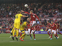 Fleetwood Town's Harry Souttar sees his header go wide<br /> <br /> Photographer Mick Walker/CameraSport<br /> <br /> The Carabao Cup First Round - Nottingham Forest v Fleetwood Town - Tuesday 13th August 2019 - The City Ground - Nottingham<br />  <br /> World Copyright © 2019 CameraSport. All rights reserved. 43 Linden Ave. Countesthorpe. Leicester. England. LE8 5PG - Tel: +44 (0) 116 277 4147 - admin@camerasport.com - www.camerasport.com