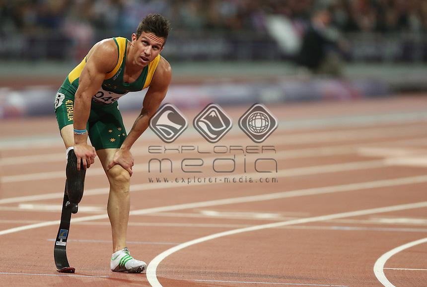 Jack Swift (AUS), Men's 400m - T44 Round 1.<br /> Athletics, Olympic Stadium (Friday 7th Sept)<br /> Paralympics - Summer / London 2012<br /> London England 29 Aug - 9 Sept <br /> © Sport the library/Joseph Johnson