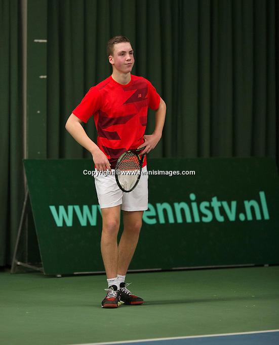 Rotterdam, The Netherlands, March 19, 2016,  TV Victoria, NOJK 14/18 years, Stijn Janssen (NED)<br /> Photo: Tennisimages/Henk Koster