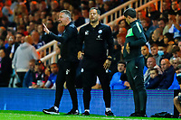 28th August 2021; Weston Homes Stadium, Peterborough, Cambridgeshire, England; EFL Championship football, Peterborough United versus West Bromwich Albion; Peterborough United Manager Darren Ferguson shouts instructions from the technical area