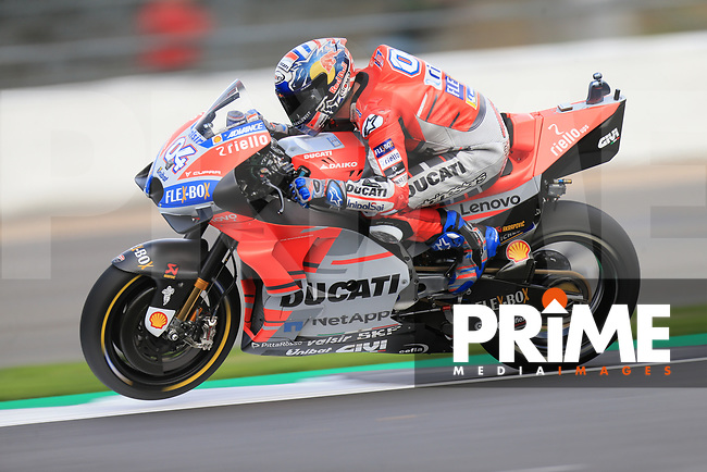 Andrea Dovizioso (4) of the Ducati race team during the GoPro British MotoGP at Silverstone Circuit, Towcester, England on 26 August 2018. Photo by Chris Brown / PRiME Media Images