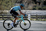 Omar Fraile (ESP) Astana-Premier Tech climbs the Cote de Duranas during Stage 8 of Paris-Nice 2021, running 92.7km from Le Plan-du-Var to Levens, France. 14th March 2021.<br /> Picture: ASO/Fabien Boukla | Cyclefile<br /> <br /> All photos usage must carry mandatory copyright credit (© Cyclefile | ASO/Fabien Boukla)