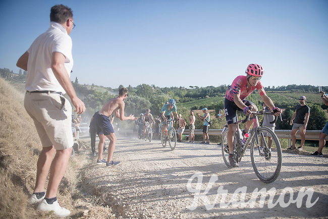 Alberto Bettiol (ITA/EF Education First)<br /> <br /> 14th Strade Bianche 2020<br /> Siena > Siena: 184km (ITALY)<br /> <br /> delayed 2020 (summer!) edition because of the Covid19 pandemic > 1st post-Covid19 World Tour race after all races worldwide were cancelled in march 2020 by the UCI