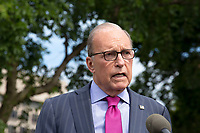 Director of the National Economic Council Larry Kudlow Speaks to the Media