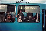 ?Vor einigen Jahren sah ich ein Grafitti TRAMVAJLJUDI (Straßenbahn-Menschen). Dieser Ausdruck passt perfekt zu diesem Bild und der Enge in der Zagreber Straßenbahn.? (King Tomislav Square, Zagreb) ACHTUNG: FOTO BISHER NUR MIT GERINGER AUFLÖSUNG