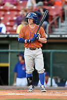 Durham Bulls designated hitter Mike Fontenot (5) at bat during a game against the Buffalo Bisons on July 10, 2014 at Coca-Cola Field in Buffalo, New  York.  Durham defeated Buffalo 3-2.  (Mike Janes/Four Seam Images)