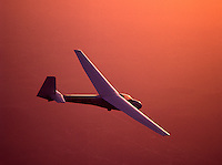 Glider in the sunset over Belguim