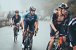 Jack Haig (AUS) Bahrain Victorious, Enric Mas (ESP) Movistar Team and Adam Yates (GBR) Ineos Grenadiers in the chase group on the final climb during Stage 17 of La Vuelta d'Espana 2021, running 185.8km from Unquera to Lagos de Covadonga, Spain. 1st September 2021.    <br /> Picture: Cxcling   Cyclefile<br /> <br /> All photos usage must carry mandatory copyright credit (© Cyclefile   Cxcling)