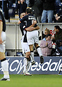 15/11/2008  Copyright Pic: James Stewart.File Name : sct_jspa04_falkirk_v_motherwell.MICHAEL HIGDON IS CONGRATLATED BY JACKIE MCNAMARA AFTER HE SCORES FALKIRK'S FIRST.James Stewart Photo Agency 19 Carronlea Drive, Falkirk. FK2 8DN      Vat Reg No. 607 6932 25.Studio      : +44 (0)1324 611191 .Mobile      : +44 (0)7721 416997.E-mail  :  jim@jspa.co.uk.If you require further information then contact Jim Stewart on any of the numbers above.........