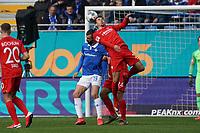 Robert Tesche (VfL Bochum) klärt gegen Serdar Dursun (SV Darmstadt 98) - 07.03.2020: SV Darmstadt 98 vs. VfL Bochum, Stadion am Boellenfalltor, 2. Bundesliga<br /> <br /> DISCLAIMER: <br /> DFL regulations prohibit any use of photographs as image sequences and/or quasi-video.
