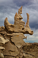 One of many strange formations found at Fantasy Canyon south of Vernal, in Uintah County, Utah.