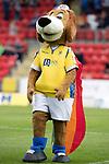 St Johnstone v Livingston….10.08.19      McDiarmid Park     SPFL <br />Saints mascot Brogan the Beagle sporting LGBT colours<br />Picture by Graeme Hart. <br />Copyright Perthshire Picture Agency<br />Tel: 01738 623350  Mobile: 07990 594431