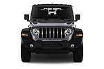 Car photography straight front view of a 2020 JEEP Wrangler Sport 3 Door SUV Front View