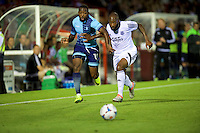 Myles Weston of Wycombe Wanderers in action during the Friendly match between Aldershot Town and Wycombe Wanderers at the EBB Stadium, Aldershot, England on 26 July 2016. Photo by Alan  Stanford.