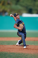 Gage Jump (14) during the WWBA World Championship at Terry Park on October 8, 2020 in Fort Myers, Florida.  Gage Jump, a resident of Aliso, California who attends JSerra Catholic High School, is committed to UCLA.  (Mike Janes/Four Seam Images)