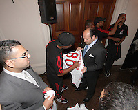 Ronaldinho of AC Milan signs an autograph at a reception for AC Milan at DAR Constitution Hall in Washington DC on May 24 2010.
