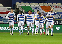EDIT: Queens Park Rangers players celebrating their first goal during Queens Park Rangers vs Rotherham United, Sky Bet EFL Championship Football at The Kiyan Prince Foundation Stadium on 24th November 2020