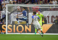Houston, TX - Tuesday June 21, 2016: Augusto Fernandez, Fabian Johnson during a Copa America Centenario semifinal match between United States (USA) and Argentina (ARG) at NRG Stadium.