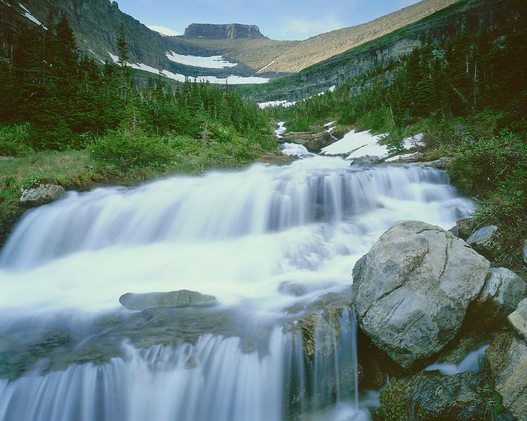 Rock formations along Reynolds Creek; Glacier National Park, MT