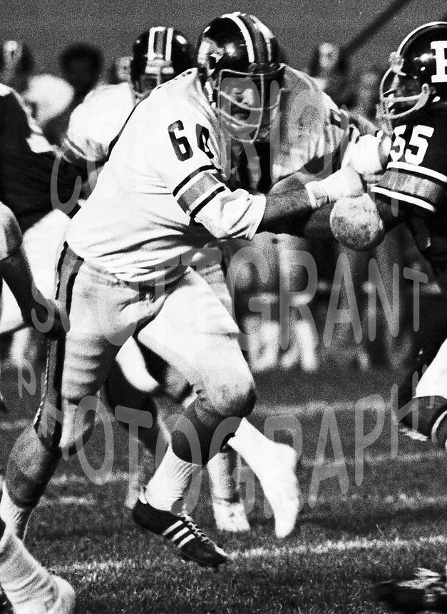 Don Wunderly BC Lions 1975. Copyright photograph Scott Grant