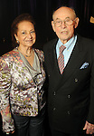 Honoree Bill Morgan and his wife Shirley at the Holocaust Museum Houston's Guardian of the Human Spirit Luncheon at the Hilton Americas Hotel Monday Nov.18, 2013. (Dave Rossman photo)