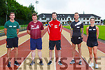 Jerry Crean Ballyheigue, Trevor Coffey Beaufort, John Kelly Castleisland, Ollie O'Sullivan Tralee and Jackie O'Carroll Causeway who ran in the Grand Prix 5k fun run in aid of Kerry Cancer Support in An Riocht track on Saturday