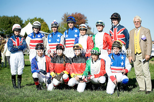 International amateur riders pose at Great Meadow in October.