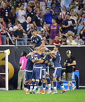 Houston, TX - Tuesday June 21, 2016: Argentina  during a Copa America Centenario semifinal match between United States (USA) and Argentina (ARG) at NRG Stadium.