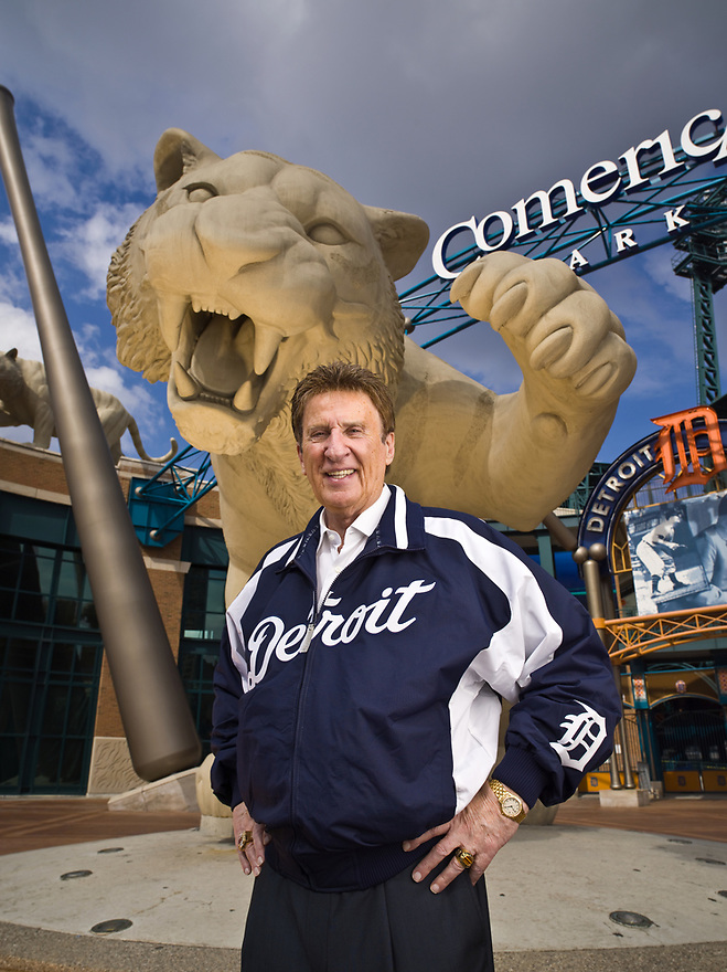 Mike Illich - Founder of Little Caesars Pizza photographed at the Comerica Park,  the Detroit, Michigan home of his Detroit Tigers on August 30, 2006 for Forbes Magazine