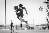BRADENTON, FL - JANUARY 21: Cristian Roldan heads the ball during a training session at IMG Academy on January 21, 2021 in Bradenton, Florida.